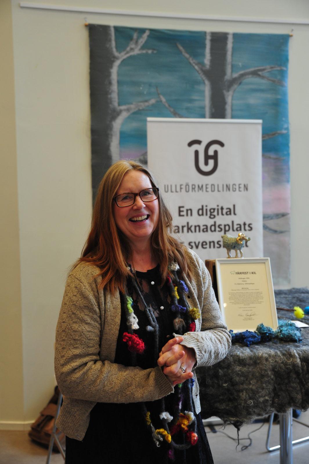 Mottagare av FÅRfestens stipendium Guldbaggen, Fia Söderberg, Ullförmedlingen